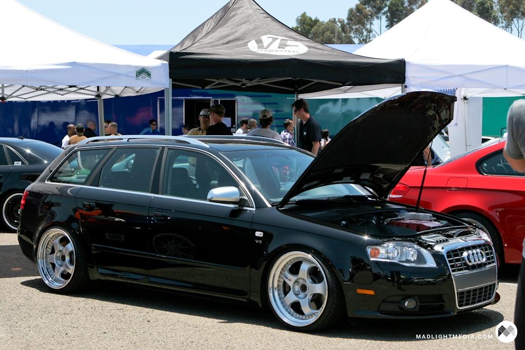 Audi A4 Avant Black. Audi A4 Avant on work wheels